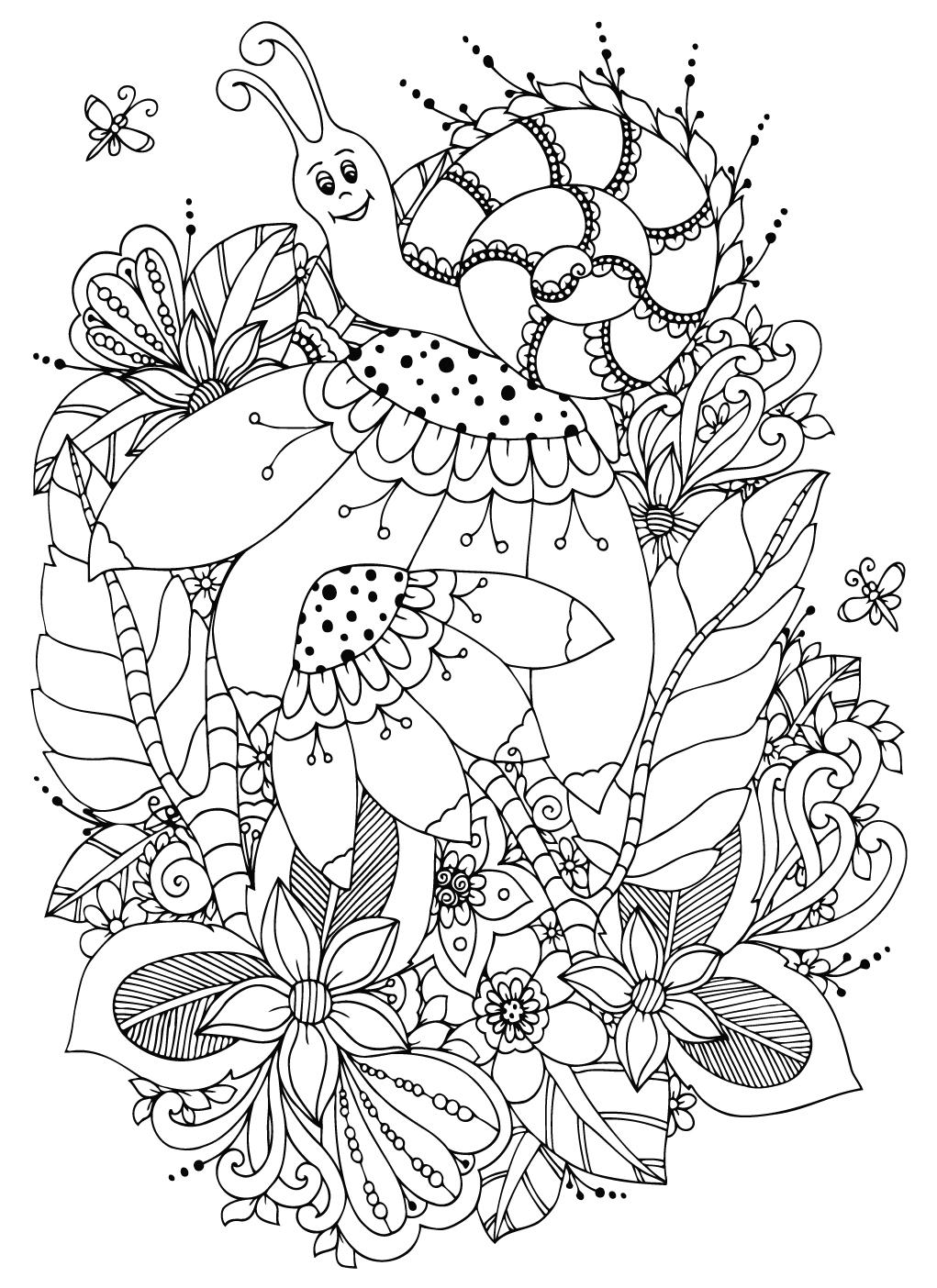 csiga színező